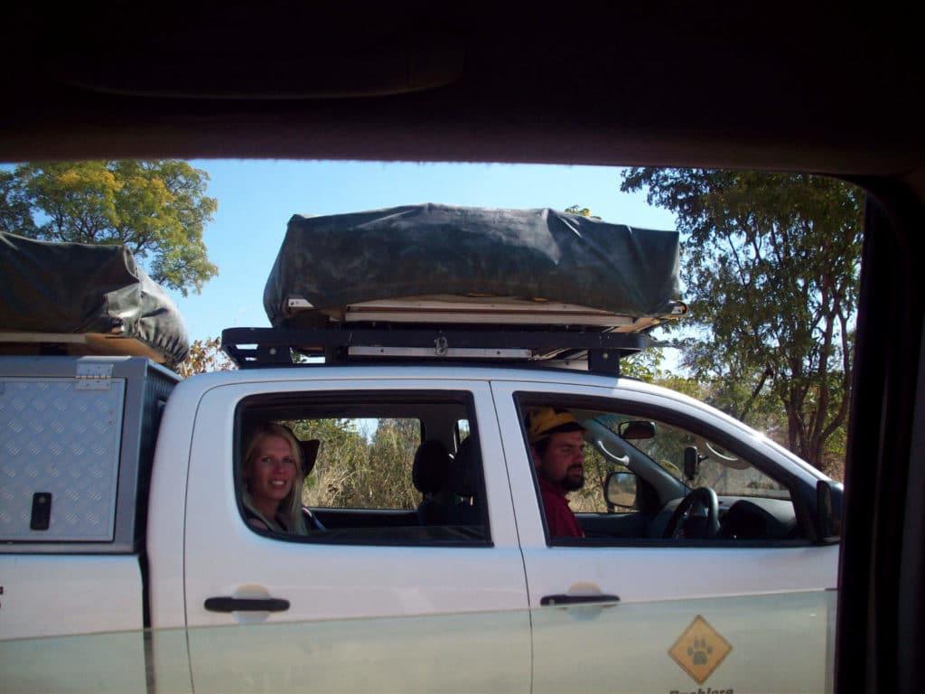 4WD mit Dachzelt in Botswana