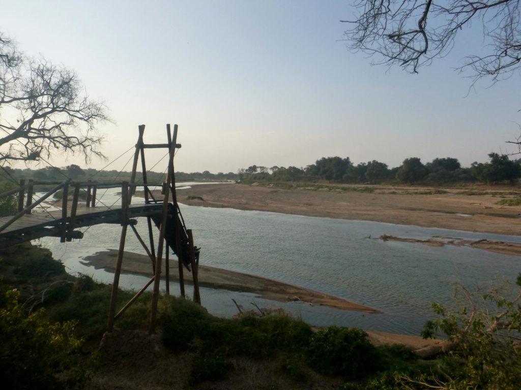 Beschädigter Tree Top Walk im Mapungubwe National Park