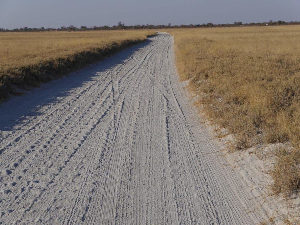 Sandpiste im Nata Bird Sanctuary