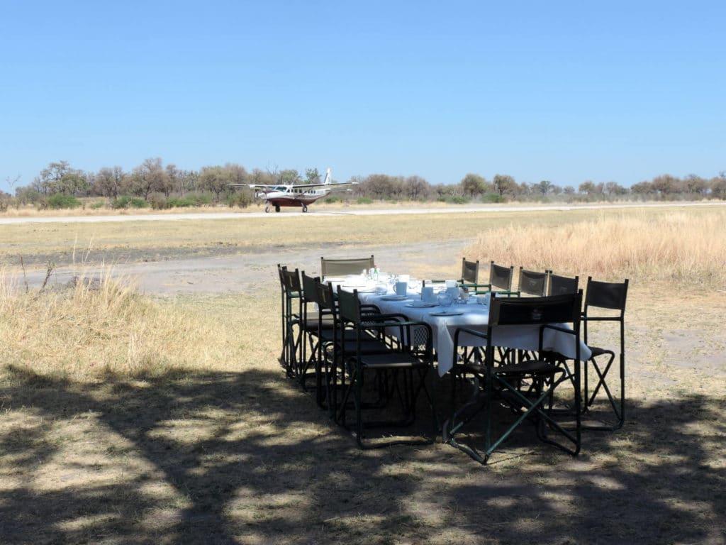 Flugsafari in Botswana