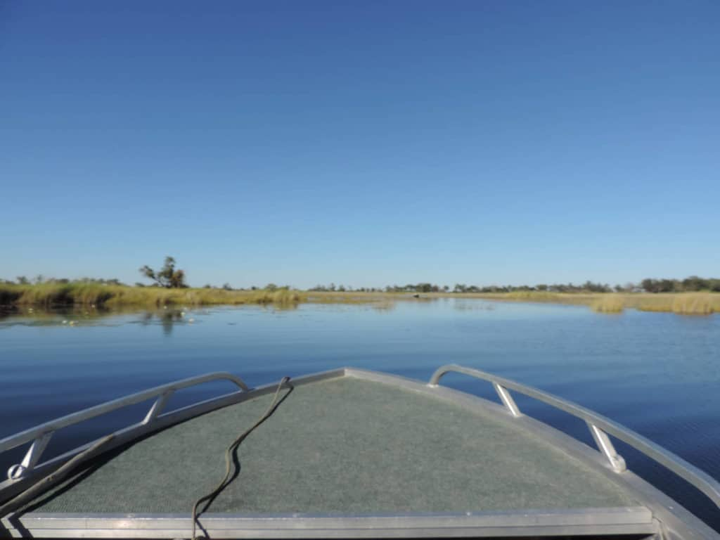 Bootsfahrt im Moremi Game Reserve